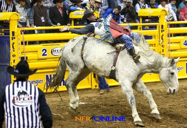 NFR Bareback riding